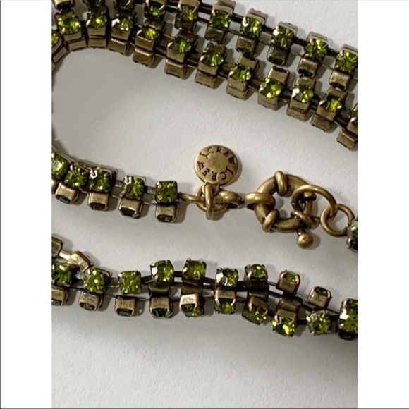 J. Crew Jewelry - J. Crew Green Rhinestone Necklace